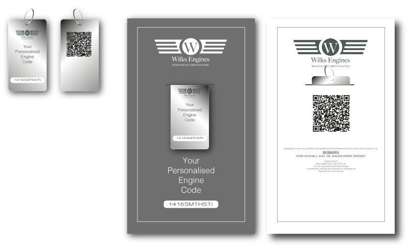 Choose your own personalised reference code to be engraved on your engine